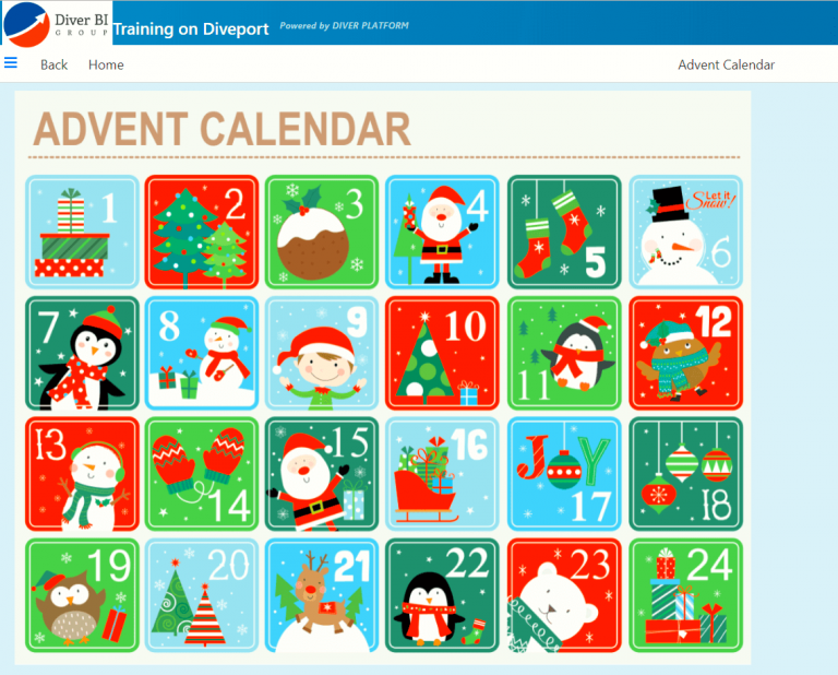 Advent Calendar Page Diveport