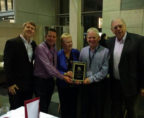 John Spillane and Bob Corr receiving award at DIUC 2017