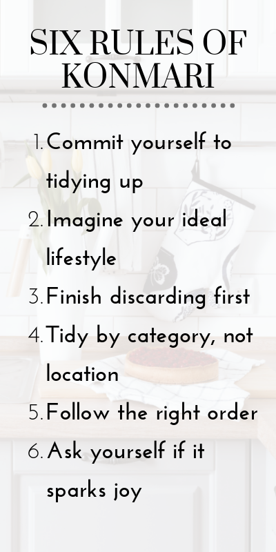 Six rules of KonMari