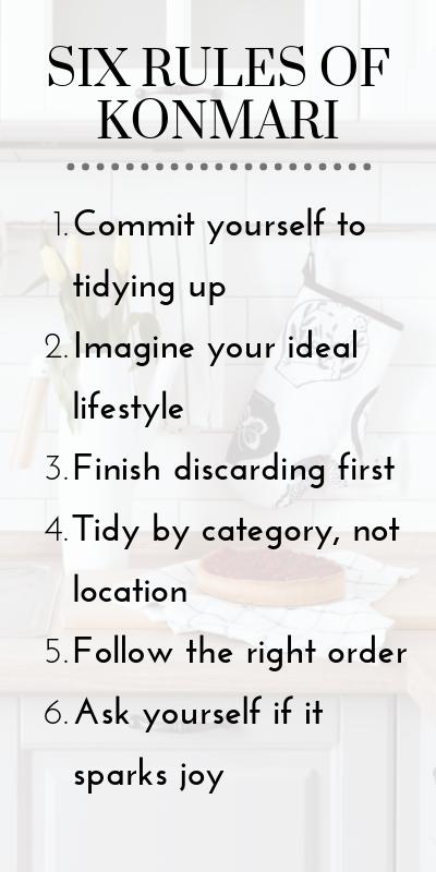 Six rules of KonMari