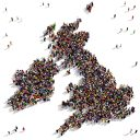 UK and Ireland with people