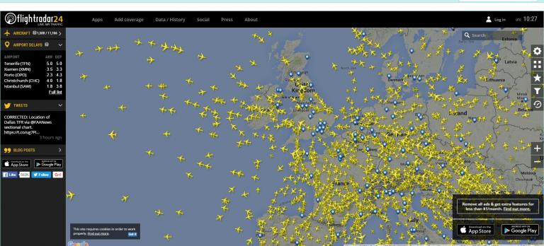 flight radar image